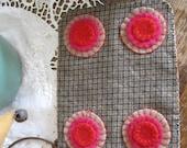 Checkered Valentine Penny Rug, FAAP, OFG, HaFair