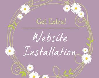 WordPress Installation Add-on for premade templates / Template Installation / WordPress installation