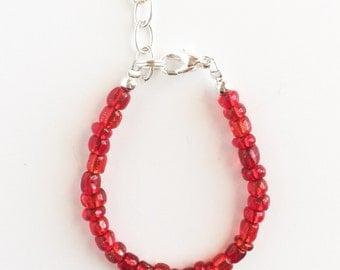 Ruby Red Stacking Bracelet