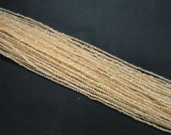 2mm Natural Citrine Bead Strands