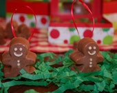 Gingerbread Boy, Christmas Ornament, Shea Butter Soap on a Rope, Cinnamon, Allspice, Clover Essential Oil, Fragrant Spice Smell, Gift