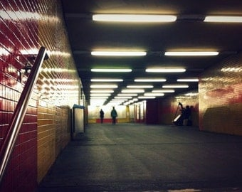 Berlin Metro Underground Street Photography Subway Urban U-Bahn Color Photography Lomography Polaroid - Fine Art Print Home decor