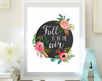 thanksgiving print fall decor fall is in the air quotes autumn home decor  fall quotes autumn decoration instant download 61-60small