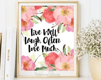 Quote art wall decor Love more print inspiration quote print wall art  calligraphy art printable love decor INSTANT DOWNLOAD 158
