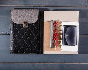 KINDLE case kindle sleeve leather ebook cover ebook case padded wool felt lined genuine leather paper white kindle case leather kindle