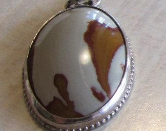 Owyhee Jasper and Sterling Silver Pendant