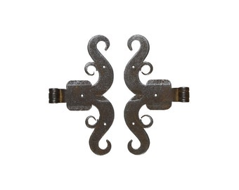 Ramshorn Rattail Hinges, Rams Horn Hinges, Forged Iron Hinges, Rat Tail Hinge, Vintage Iron Hardware, Antique Iron Hardware Antique Hardware