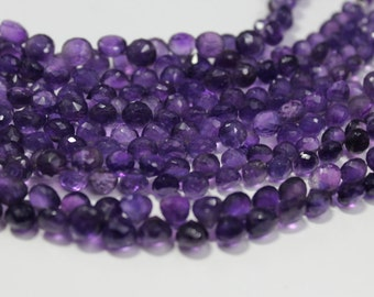 Amethyst, Micro Faceted Onion Briolettes - 8mm Approx