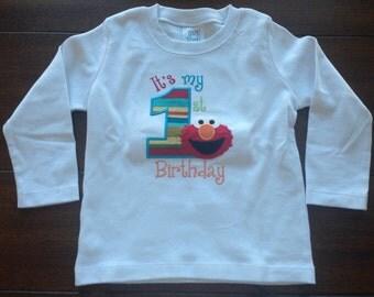 Elmo's birthday shirt