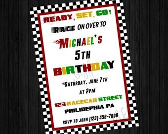 Racing Birthday Invitation (Printable)