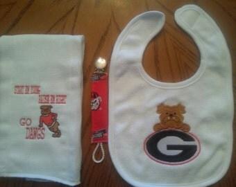 Georgia Bulldogs baby set