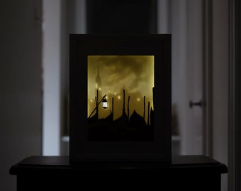 Venice Paper Cut Light Box