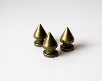 12mm Bronze Bullet Rivet Spikes