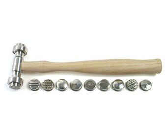 Texturing Hammer - 9 Interchangeable Texture Faces for Jewelry Making  - 37-213