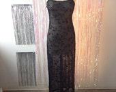 Sheer 90s Floral Slip Dress