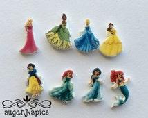 Disney Princesses Floating Charm - Disney Princess Memory Charm - Ariel Floating Charm - Cinderella Floating Charm - Belle Floating Charm -