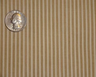 Tan White Stripes Menswear Quilting Cotton Fabric 1 1/2 yards