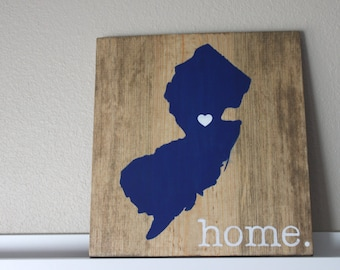 New Jersey Wood Sign, State Sign, Custom Wood Sign, Pallet Sign, Personalized Wood Sign, home decor, wall art, moving gift