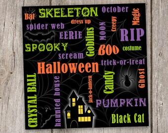 Halloween 4x4 digital clip art