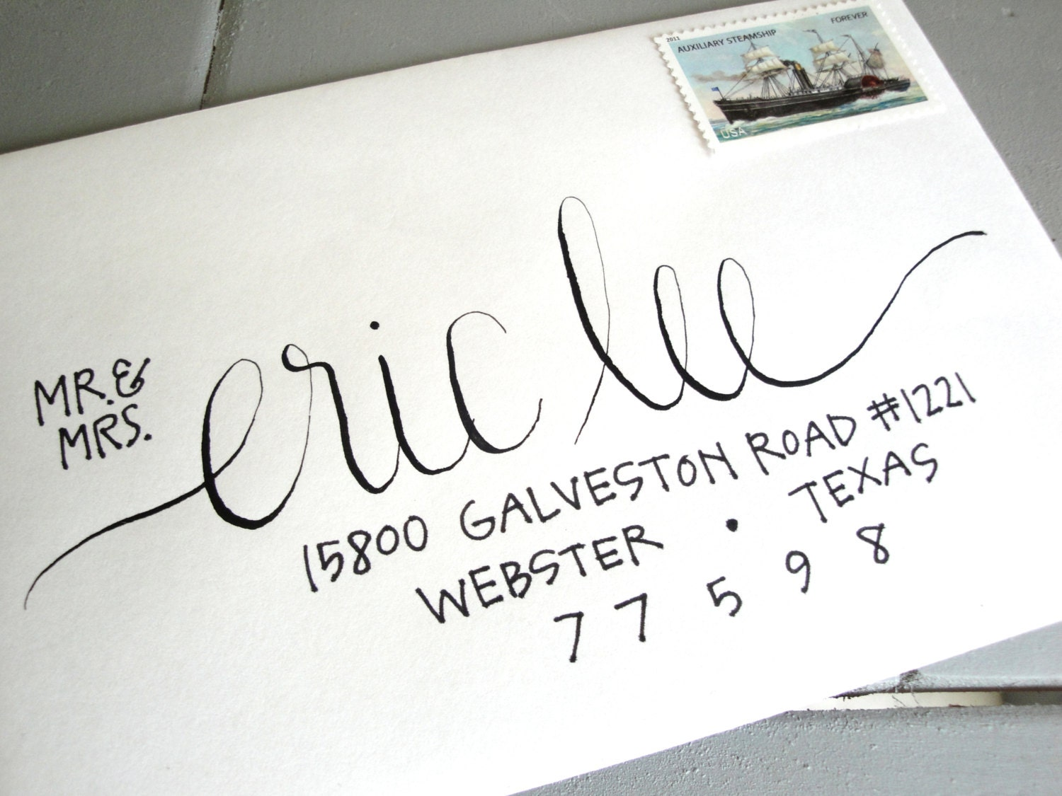 Calligraphy Envelope Addressing Custom Handwritten Lettering