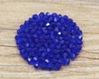 30 dark blue swarovski glass bicone 4 mm beads
