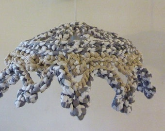 light - chandelier suspended marinières Recycled fabrics