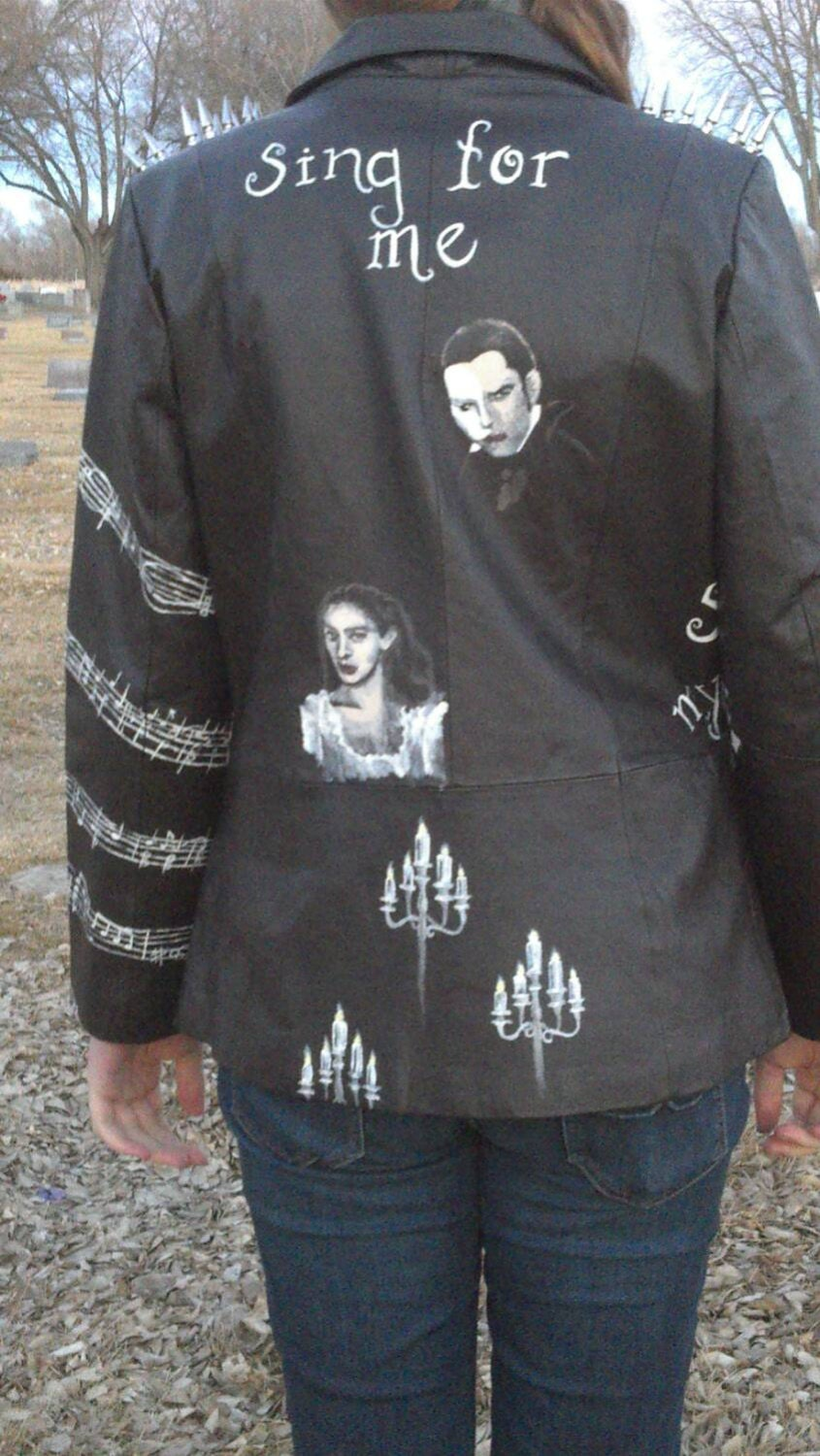 Phantom Of The Opera Modified Leather Jacket Fall By