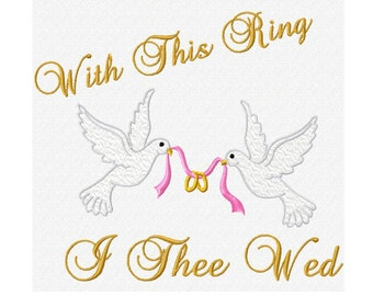 With This Ring Fill Machine Embroidery DESIGN NO. 378