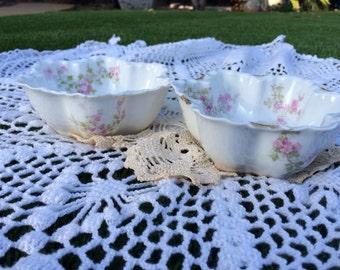 Haviland Limoges Star Shaped Candy Bowls