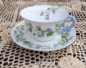 Shelley Harebell Teacup and Saucer