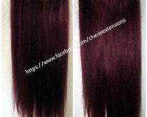 Balayage Dip Dye 8A Remy del pelo humano extensiones como tapa costura Invisible en alambre Angel