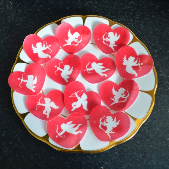 Valentines Day Cupid Edible Cupcake Toppers Valentine s ...