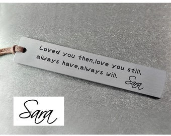 Free shipping -  personalized bookmark,signature bookmark ,gift for readers, Metal Bookmark ,Handmade Bookmark , Gift for Mom