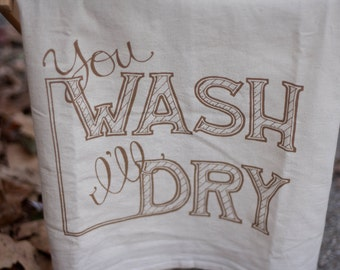 WASH & DRY (BROWN) Silkscreened Cotton Towel