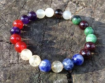 Chakra bracelet , balancing Chakra Crystal Healing Bracelet, Australian handmade balance chakra jewelery