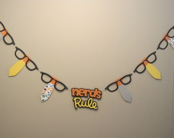 Nerds Rule Banner - Primary Colors