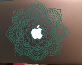 Decorative Floral Mandala for Apple Macbook