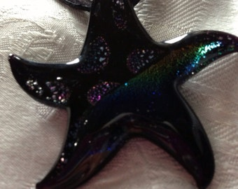 Glass Starfish Pendant Necklace