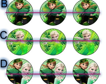 St.Patrick,s Day Bottle Cap Jewerly (Frozen,Hello Kitty,Ninjs Turtle,Disney Princess,Vintage)