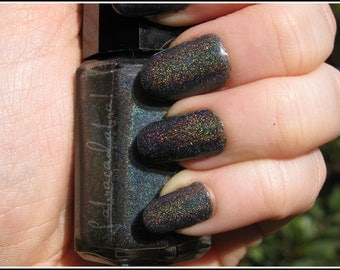 Void -  Labracadabra Black Holographic Nail Polish