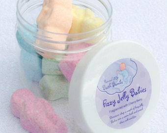 Fizzy Jelly Babies Bath Bombs - kind to sensitive skin