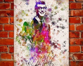 Buddy Holly In Color Poster, Home Decor, Gift Idea