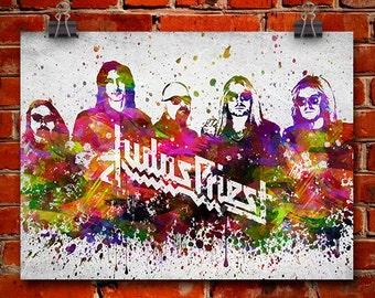 Judas Priest In Color Poster, Home Decor, Gift Idea