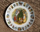 Advent Plate Second Edition Bone China Coalport Porcelain Decorative Plate Made in England