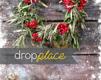 Durable Fabric Backdrop Christmas & Holiday Drop Party Backdrop Photobooth Photo Background (Multiple Sizes Available)
