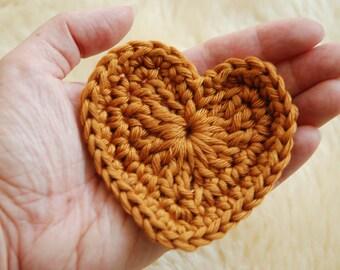 Crochet pattern heart - crochet heart - heart application - door hanger - knee piece - valentine - table confetti - home accessory