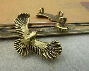 20pcs 20x35mm Antique Bronze Lovely Eagle Charm Pendant c4597