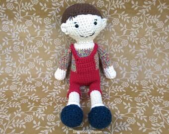 TIMMY Boy Doll // Crocheted Amigurumi // Handmade Doll