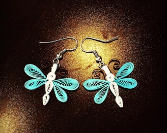 Dragonfly Quilling Earrings