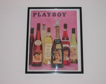 October 1958 Framed Playboy Magazine